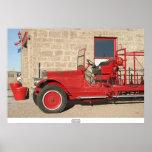 Coche de bomberos #3, Goldfield, Nevada Posters