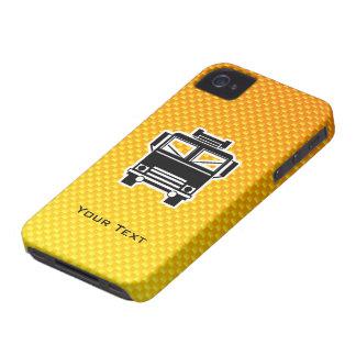 Coche de bomberos amarillo-naranja iPhone 4 Case-Mate protector