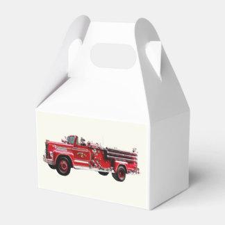 Coche de bomberos antiguo cajas para detalles de boda