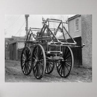 Coche de bomberos antiguo, los años 20 impresiones