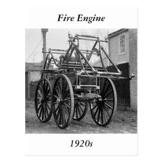 Coche de bomberos antiguo, los años 20 tarjetas postales