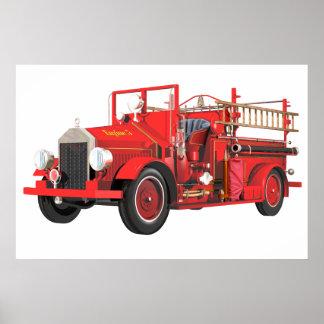 Coche de bomberos antiguo impresiones