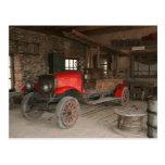 Coche de bomberos antiguo postal