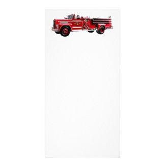 Coche de bomberos antiguo tarjetas con fotos personalizadas