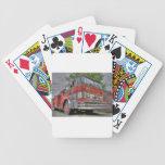 Coche de bomberos baraja cartas de poker
