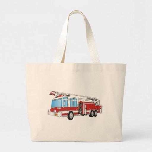 Coche de bomberos bolsa tela grande