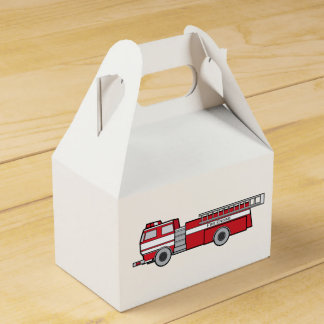 Coche de bomberos cajas para detalles de boda