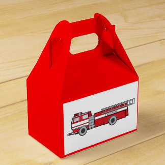 Coche de bomberos cajas para regalos