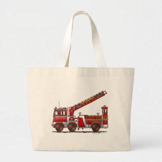 Coche de bomberos de gancho y de escalera bolsa tela grande