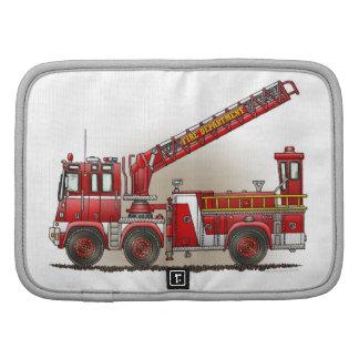 Coche de bomberos de gancho y de escalera organizador