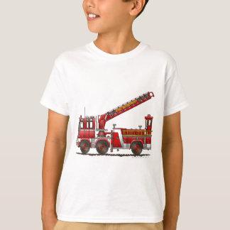Coche de bomberos de gancho y de escalera playera