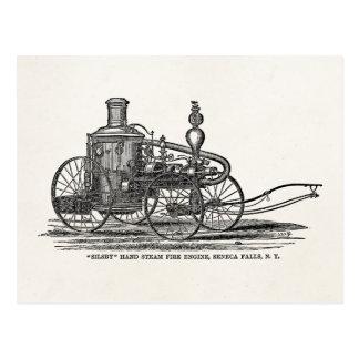 Coche de bomberos de la antigüedad del coche de bo tarjeta postal
