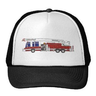 Coche de bomberos de la escalera gorras de camionero
