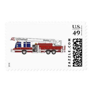 Coche de bomberos de la escalera sello