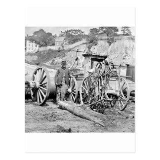 Coche de bomberos de la guerra civil, 1865 tarjeta postal