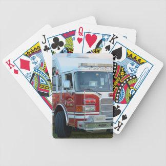 coche de bomberos de la parte frontal del baraja cartas de poker