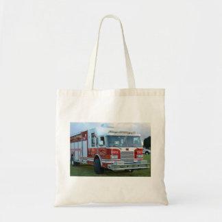 coche de bomberos de la parte frontal del bolsa tela barata