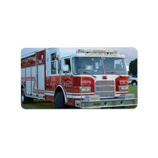 coche de bomberos de la parte frontal del
