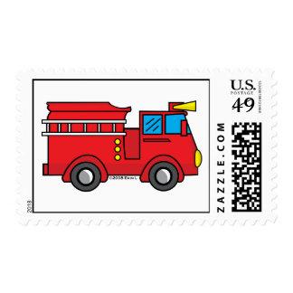 Coche de bomberos de Lil Timbres Postales