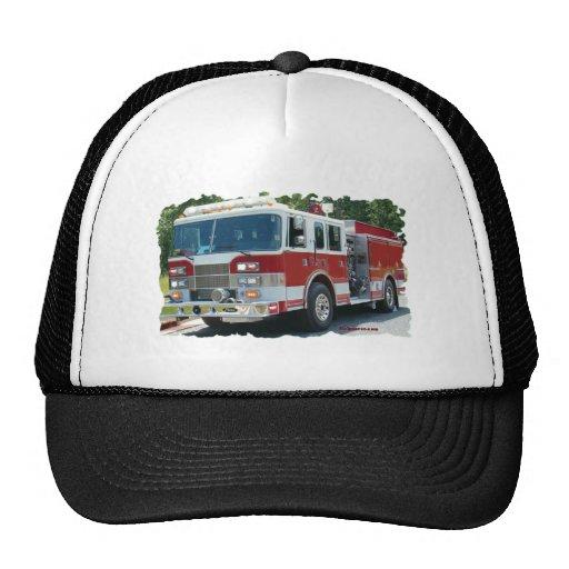 Coche de bomberos de Pierce Gorros Bordados