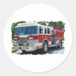 Coche de bomberos de Pierce Pegatinas Redondas