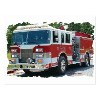 Coche de bomberos de Pierce Tarjetas Postales