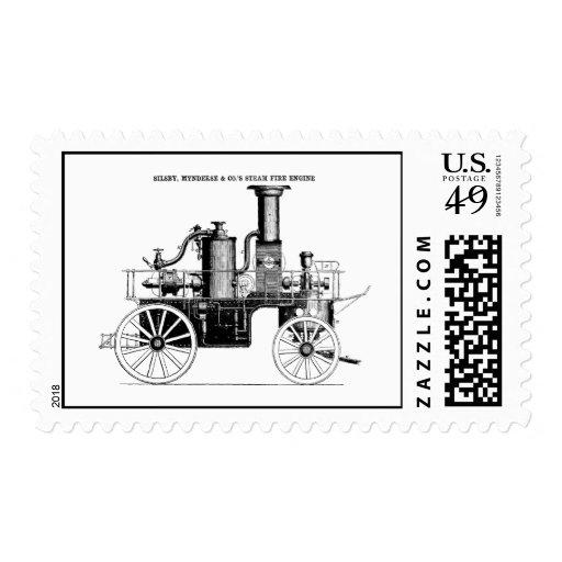 Coche de bomberos del vapor de Silsby 1858 Franqueo