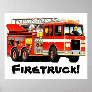 Coche de bomberos enorme posters