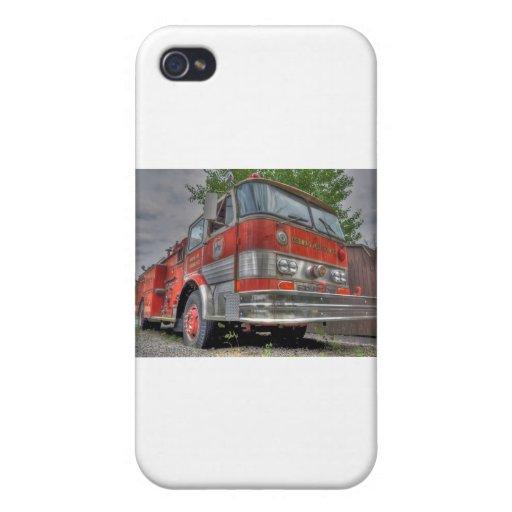Coche de bomberos iPhone 4 cárcasa