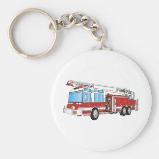 Coche de bomberos llavero redondo tipo pin