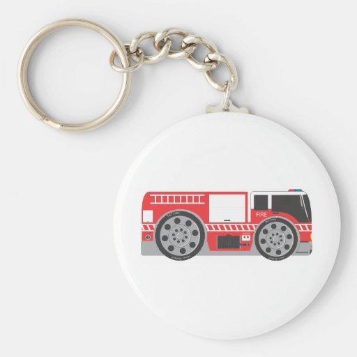 Coche de bomberos llaveros personalizados