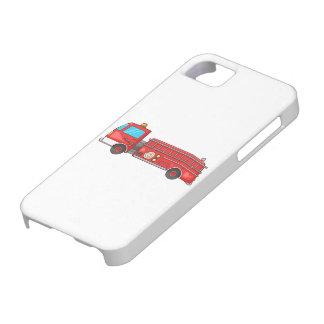 Coche de bomberos/motor del dibujo animado iPhone 5 Case-Mate cobertura