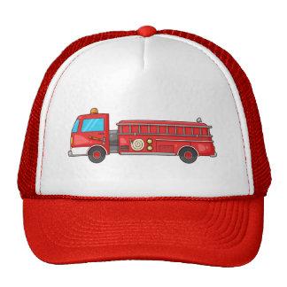 Coche de bomberos/motor del dibujo animado gorras de camionero