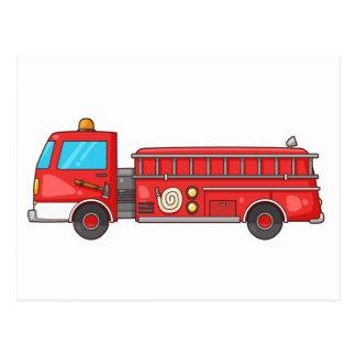 Coche de bomberos/motor del dibujo animado postales