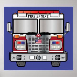 Coche de bomberos poster