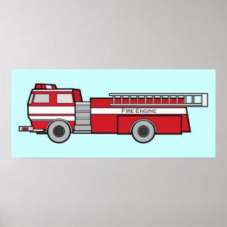Coche de bomberos impresiones