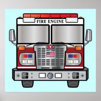 Coche de bomberos posters