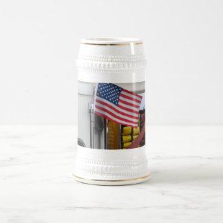 Coche de bomberos patriótico taza de café