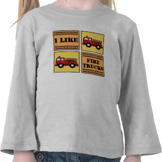 Coche de bomberos camiseta