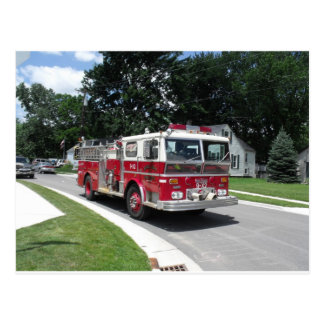coche de bomberos postales