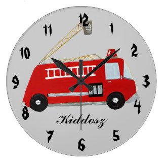 Coche de bomberos relojes