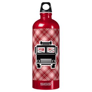 Coche de bomberos rojo de la tela escocesa