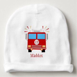 Coche de bomberos rojo el | personalizado gorrito para bebe