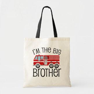 Coche de bomberos rojo hermano mayor bolsa de mano