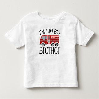 Coche de bomberos rojo hermano mayor t shirt
