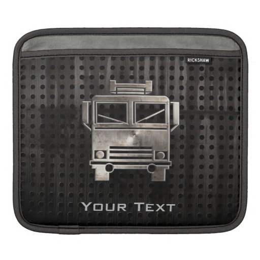 Coche de bomberos rugoso manga de iPad