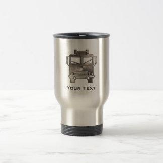 Coche de bomberos rugoso taza de viaje de acero inoxidable