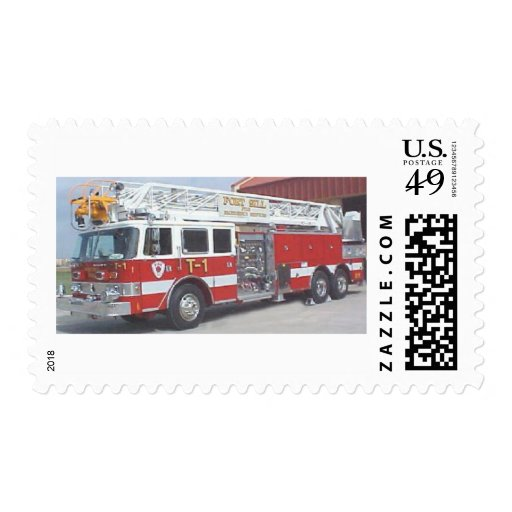 coche de bomberos sello