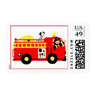 Coche de bomberos sellos