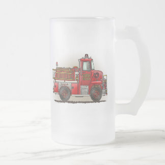 Coche de bomberos voluntario tazas